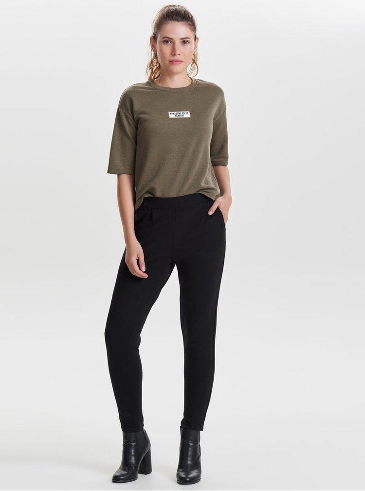 Pantaloni conici negri Jacqueline de Yong Betty