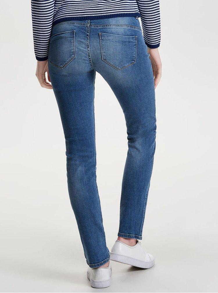 Modré regular slim fit džíny ONLY Sisse