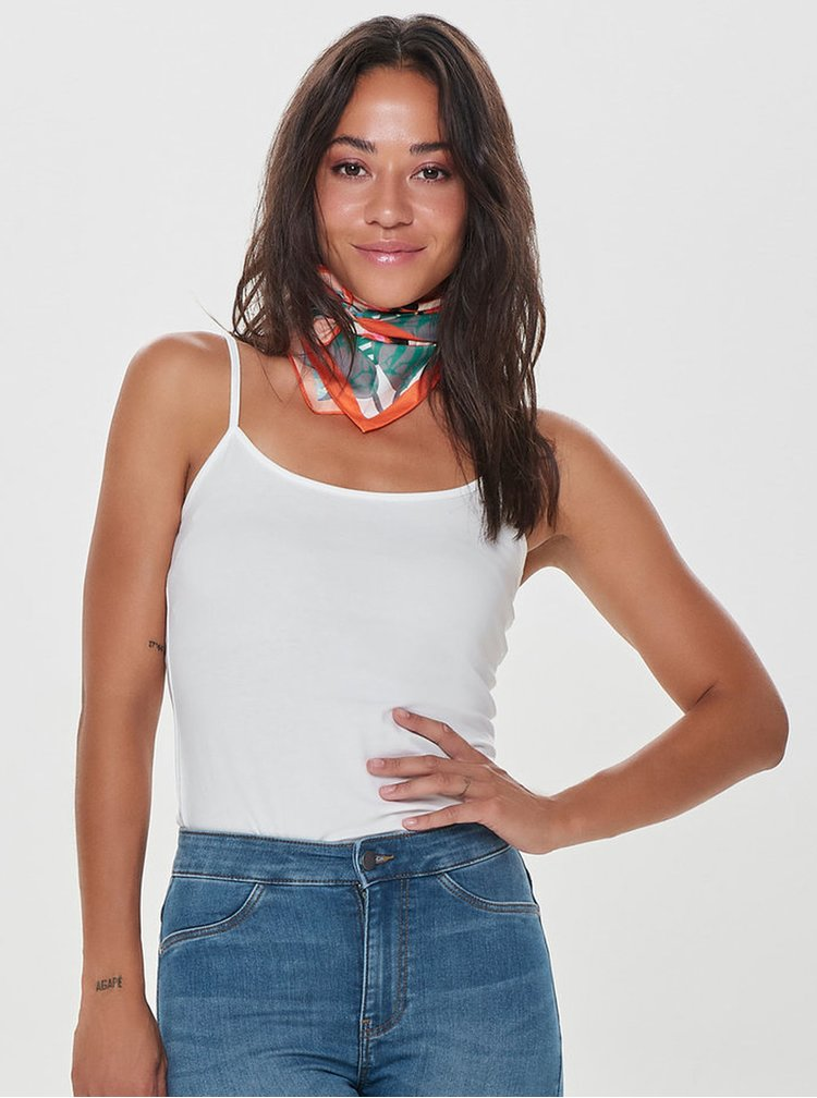 Top basic crem cu bretele ajustabile  Jacqueline de Yong Yava