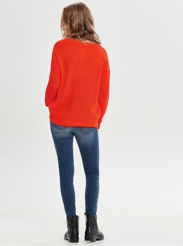 Červený pletený sveter Jacqueline de Yong Megan