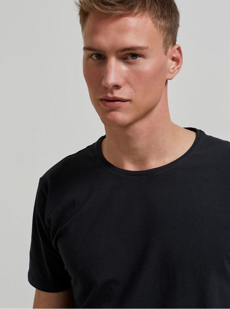 Černé basic tričko Selected Homme Pima