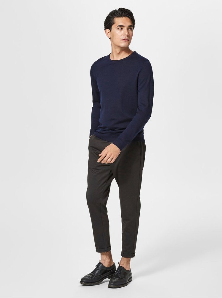 Pulover bleumarin basic - Selected Homme Dome