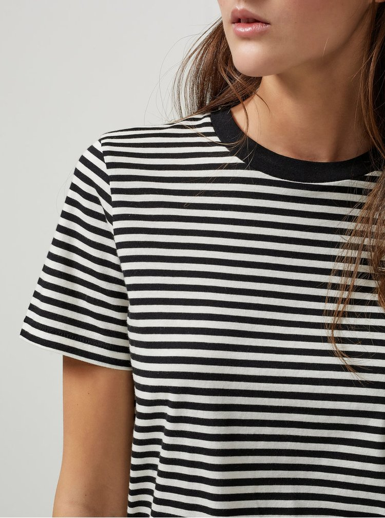 Tricou negru&crem in dungi Selected Femme My Perfect