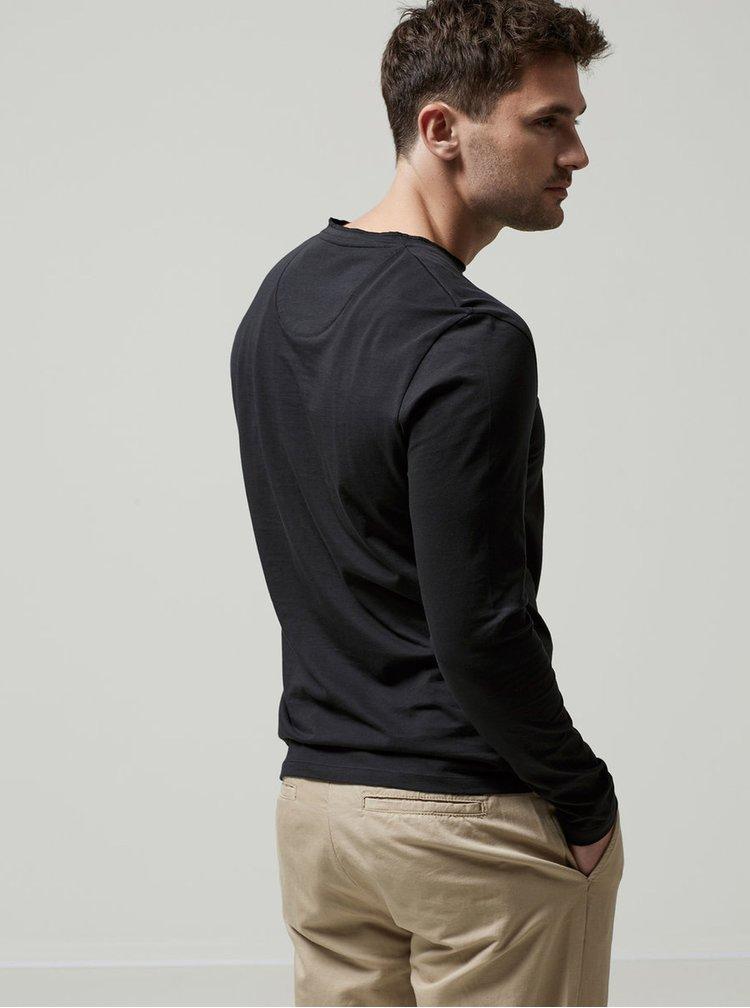 Bluza neagra Selected Homme Niklas din bumbac
