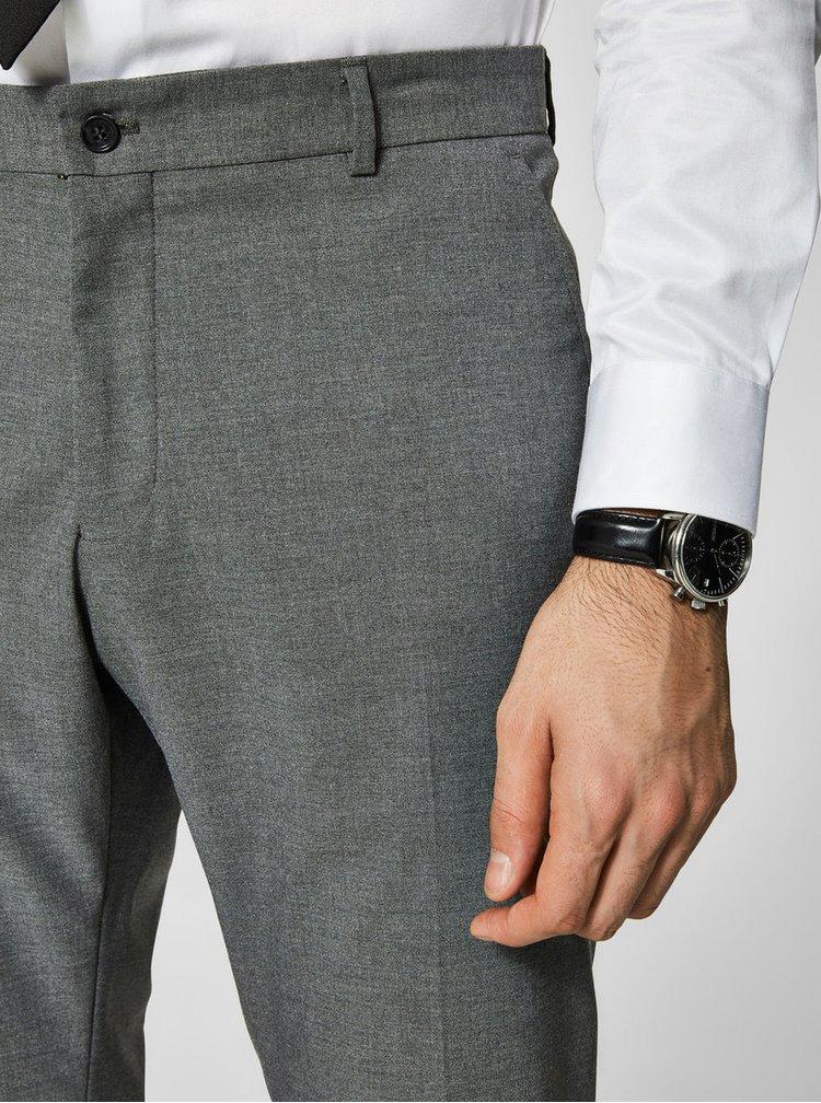 Pantaloni gri de costum Selected Homme New One
