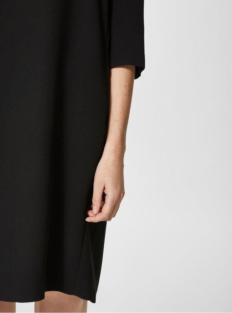 Rochie neagra cu maneci 3/4 Selected Femme Tunni