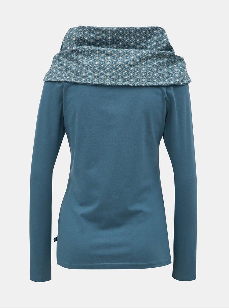 Tricou albastru deschis cu maneci lungi si guler Tranquillo Caiva