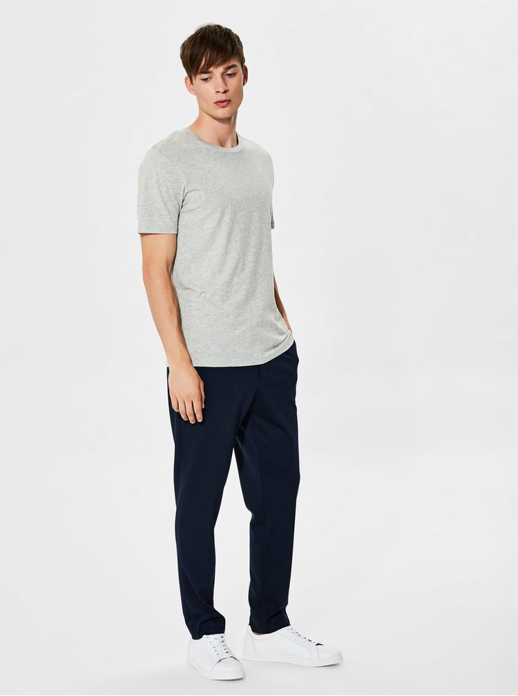 Šedé basic tričko Selected Homme The Perfect