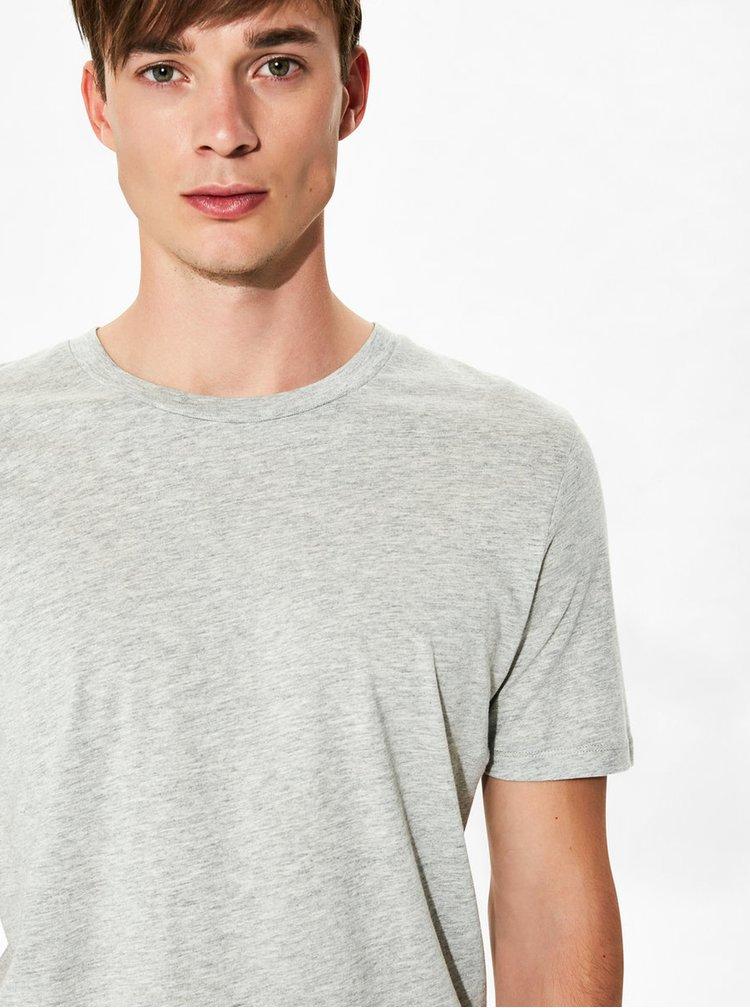 Sivé basic tričko Selected Homme The Perfect