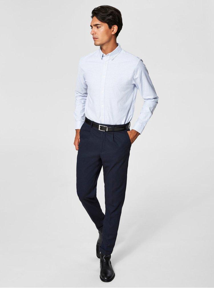 Modro-bílá pruhovaná slim fit košile Selected Homme One Victor