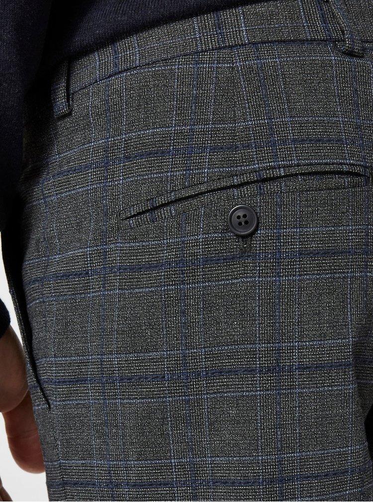 Pantaloni formali gri in carouri Selected Homme