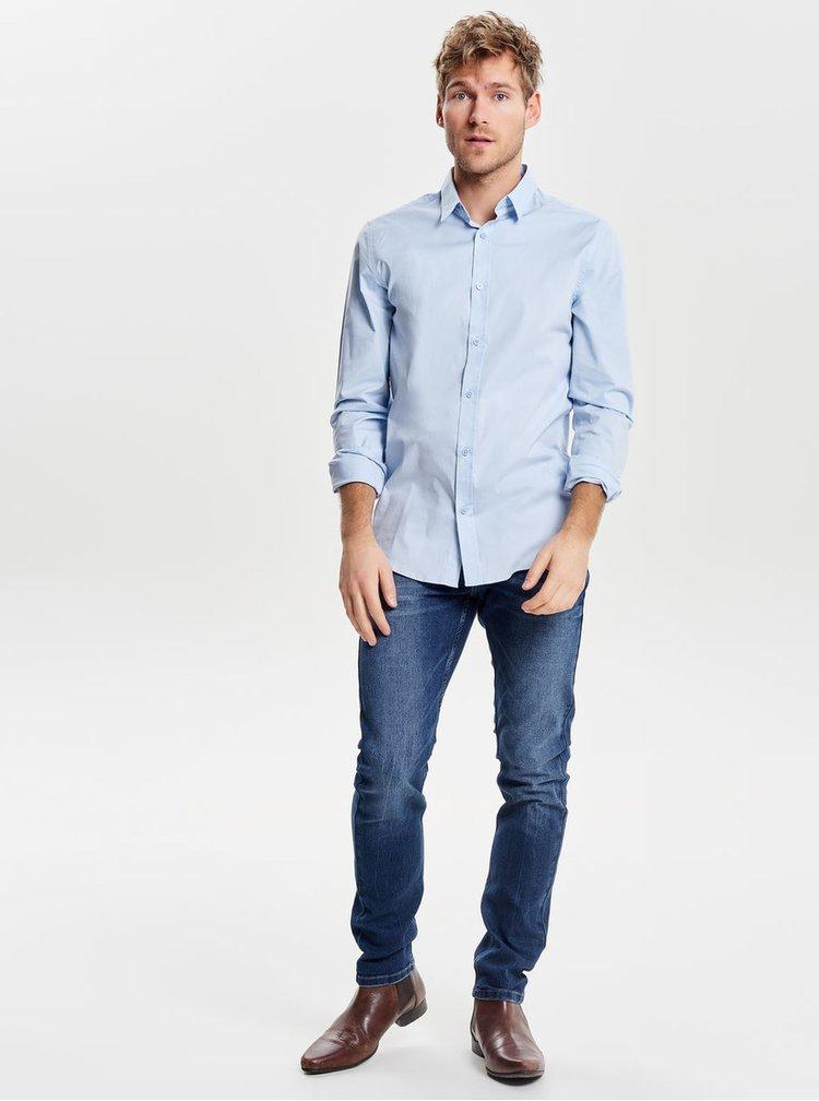 Modrá formální extra slim fit košile ONLY & SONS Alfredo