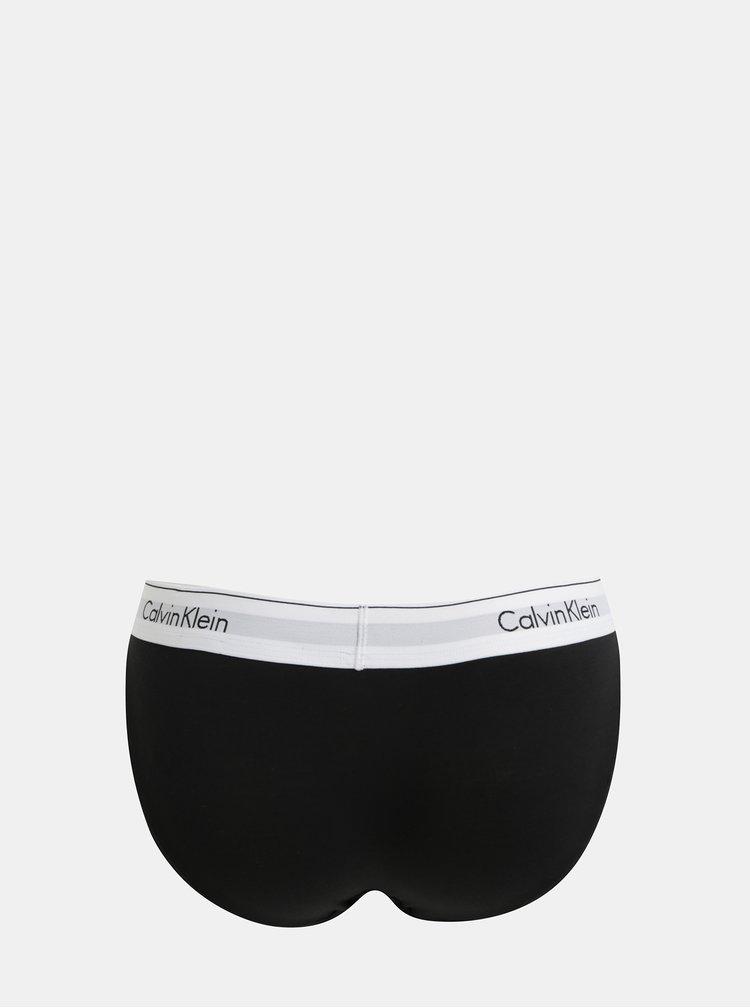 Černé kalhotky s širokým lemem Calvin Klein Underwear