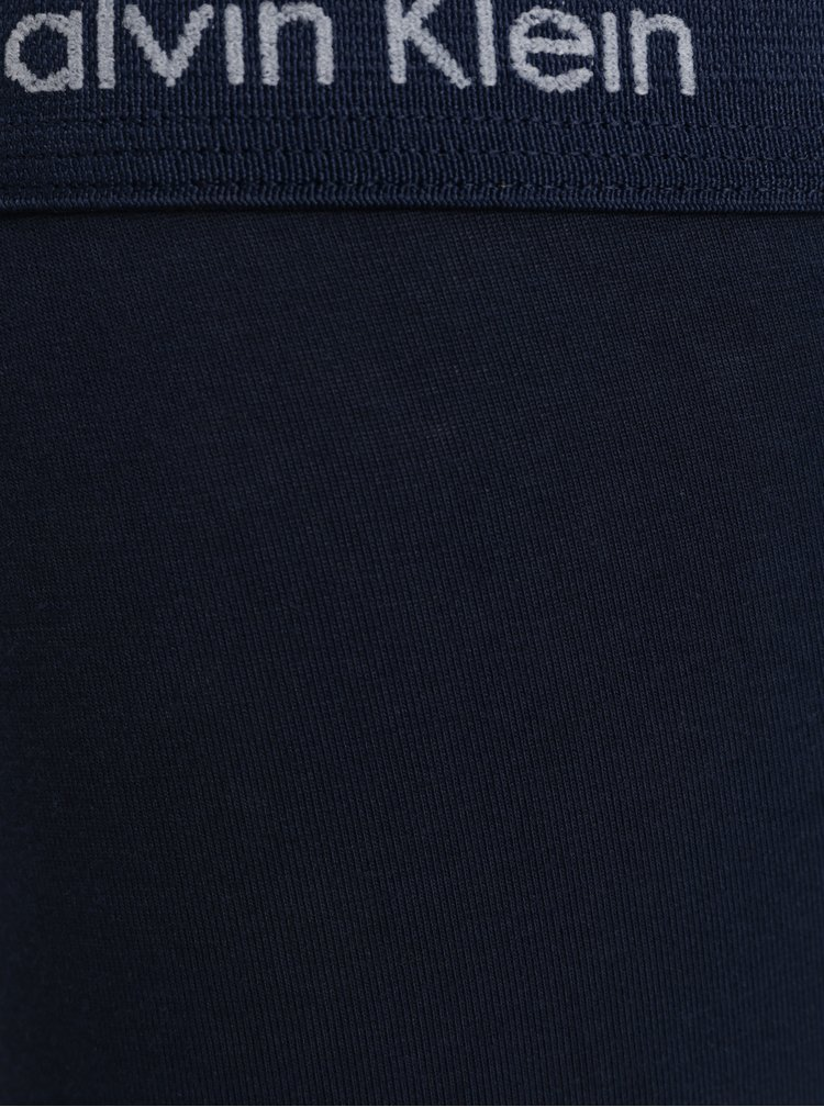 Sada tří boxerek v modré a černé barvě Calvin Klein Underwear