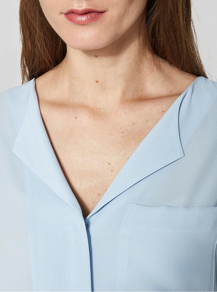 Světle modrá halenka Selected Femme Dynella
