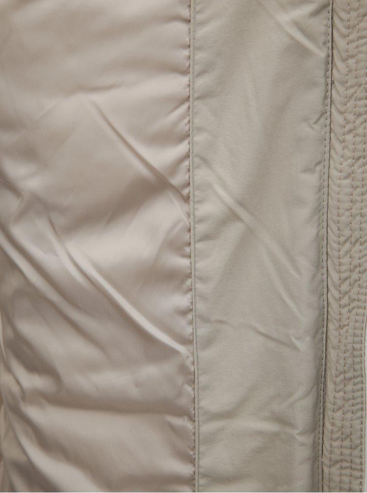 Béžový dámský voděodpudivý zimní kabát se zavazováním LOAP Tudora