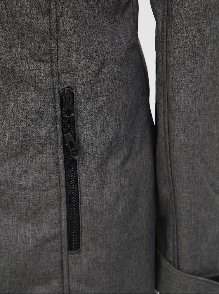 Šedá dámská žíhaná softshellová nepromokavá bunda LOAP Lavinia