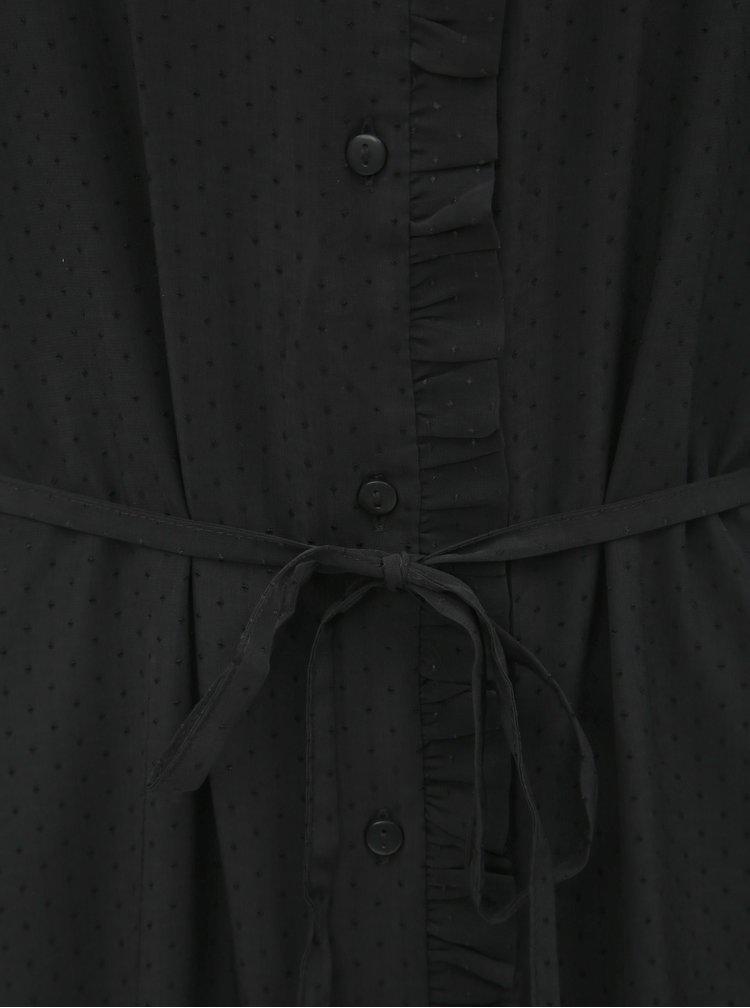 Rochie tip camasa neagra Jacqueline de Yong Gilbert