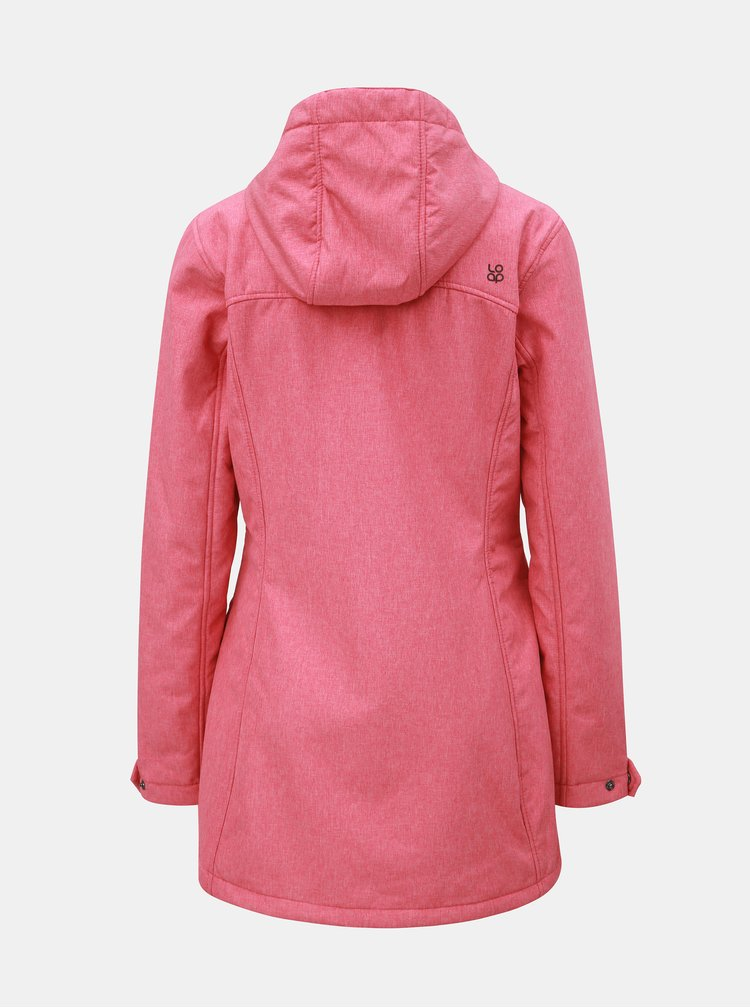 Růžová dámská softshellová nepromokavá bunda s kapsami LOAP Latisha