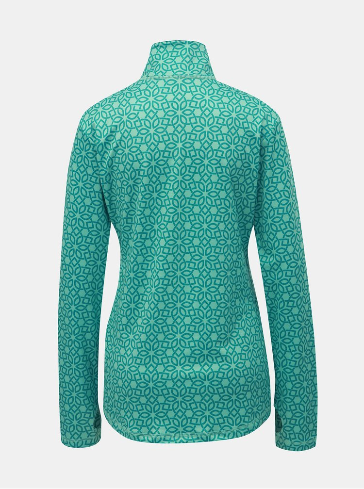 Zelené dámske vzorované funkčné tričko LOAP Midi
