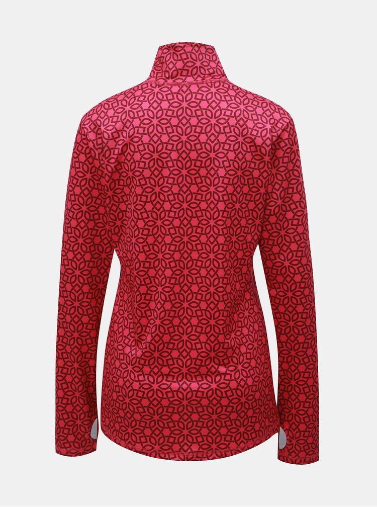 Ružové dámske vzorované funkčné tričko LOAP Midi