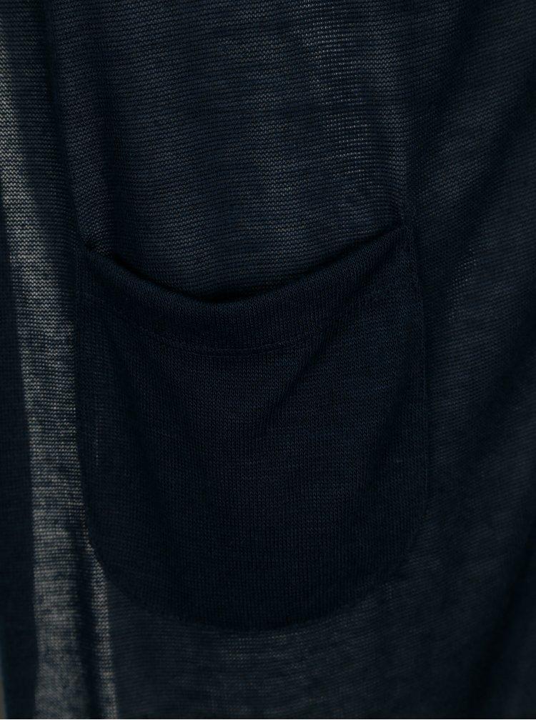 Tmavě modrý kardigan s kapsami VERO MODA Wilma