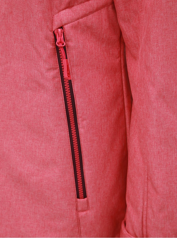 Růžová dámská softshellová nepromokavá bunda s kapucí LOAP Livia