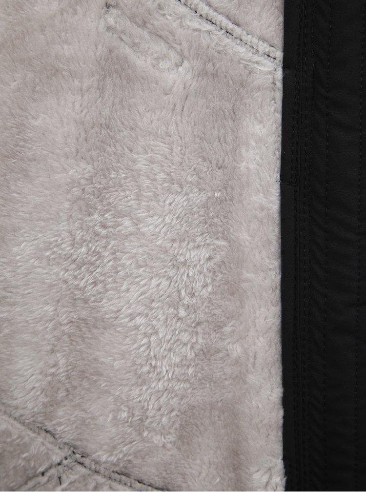 Jacheta neagra de dama softshell impermeabila cu gluga LOAP Lyla