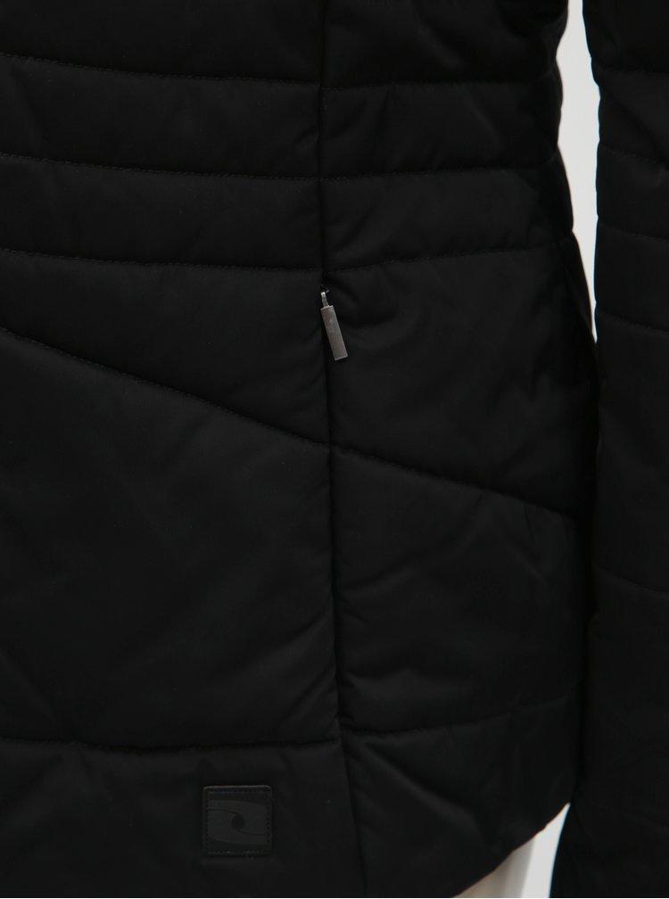 Jacheta neagra impermeabila de dama de iarna cu blana detasabila pe gluga LOAP Tiara