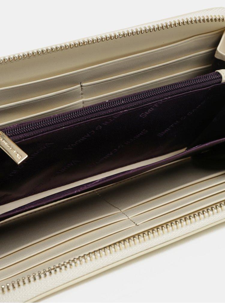 Hnědo-krémová kožená peněženka Smith & Canova