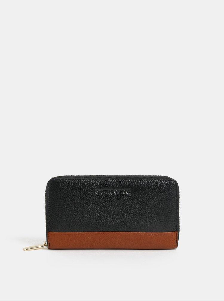 Hnedo–čierna kožená peňaženka Smith & Canova