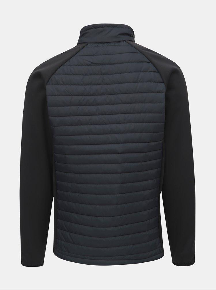 Čierna pánska prešívaná tenká bunda s golierom LOAP Ired