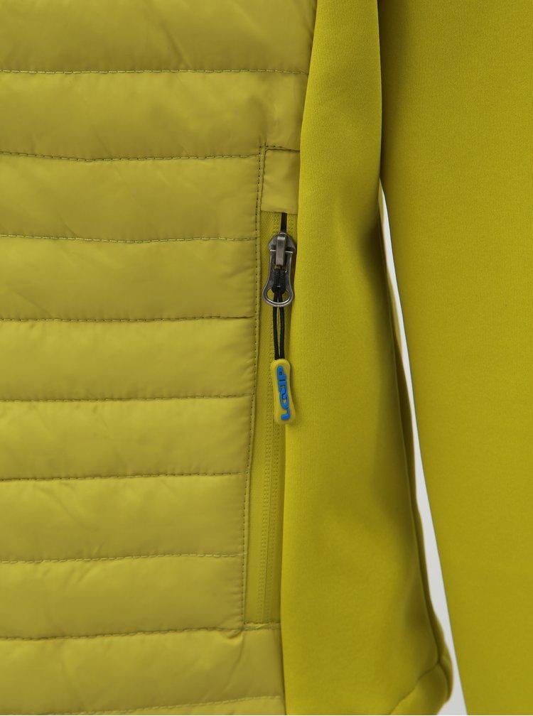 Světle zelená pánská prošívaná lehká bunda s kapucí LOAP Iredos