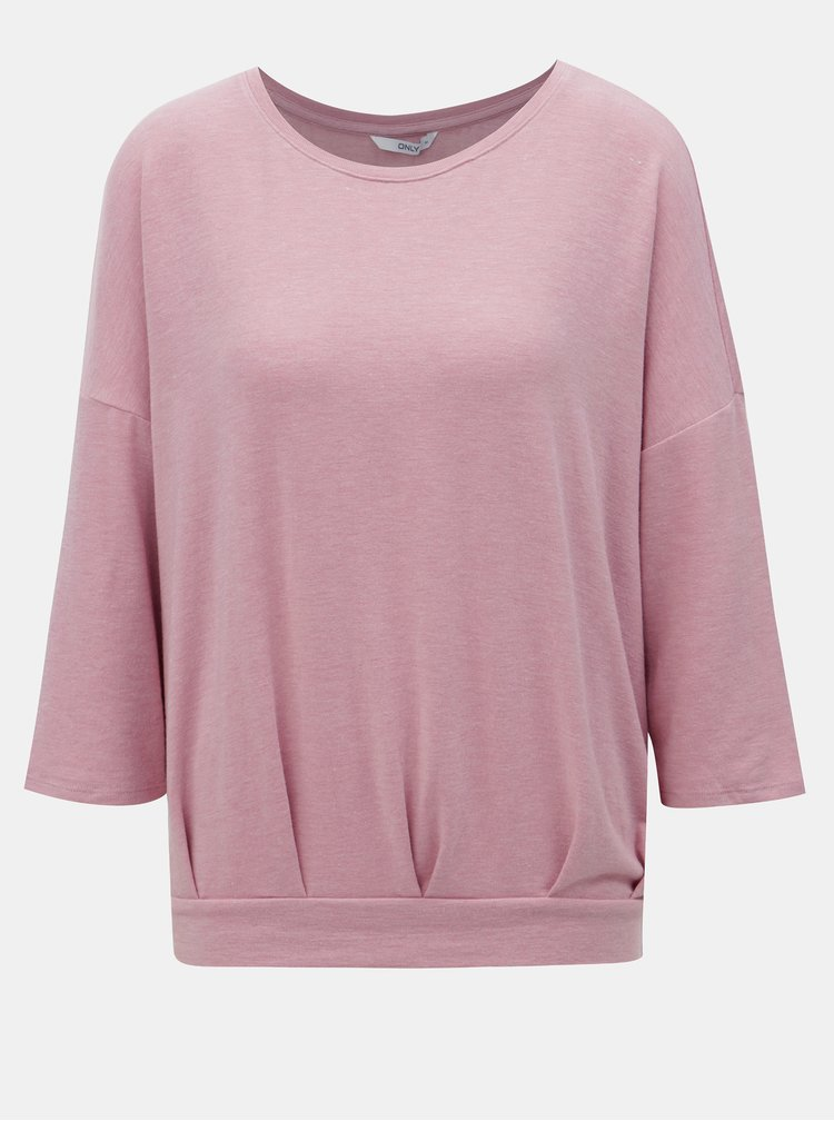 Růžové volné tričko ONLY Mida