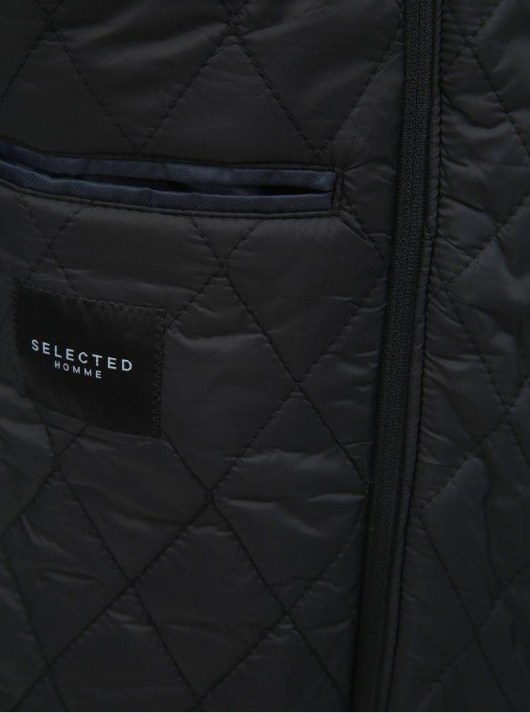 Tmavomodrý kabát s prímesou vlny a odnímateľnou vsadkou Selected Homme Hannover