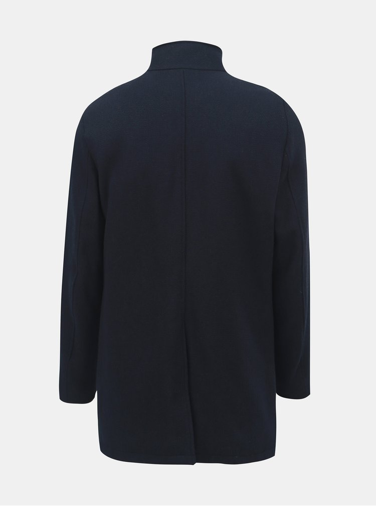 Tmavě modrý kabát s příměsí vlny a odnímatelnou vsadkou Selected Homme Hannover