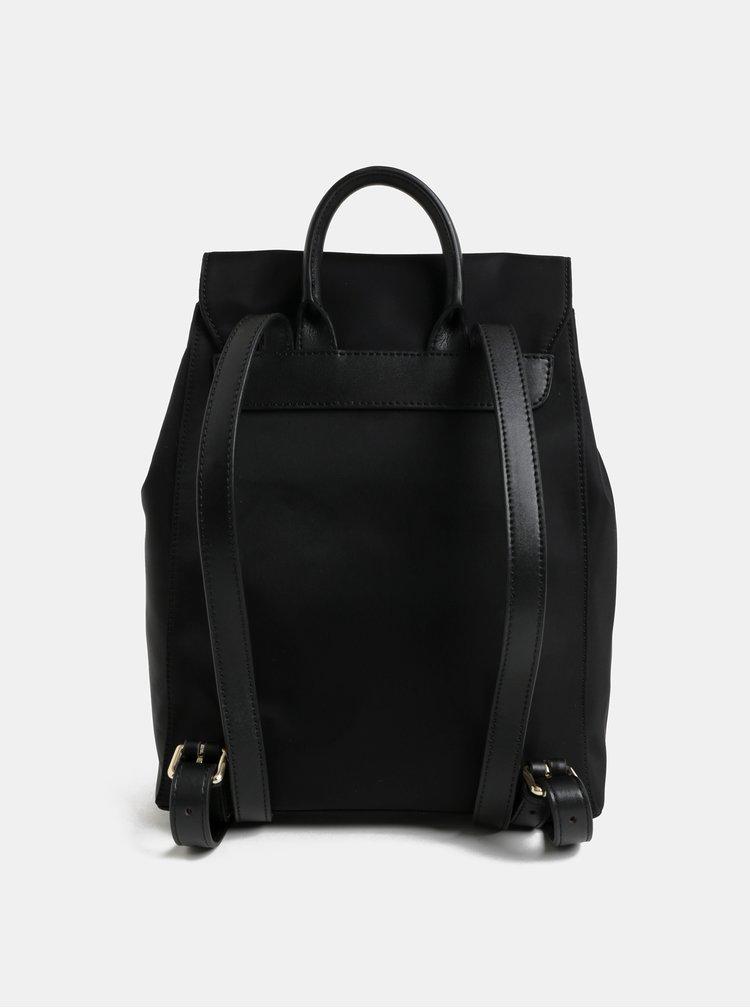 Rucsac negru elegant cu clapa Smith & Canova