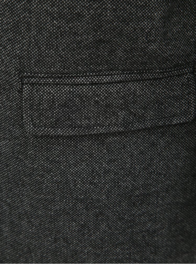 Tmavě šedý kabát s příměsí vlny a odnímatelnou vsadkou Selected Homme Hannover