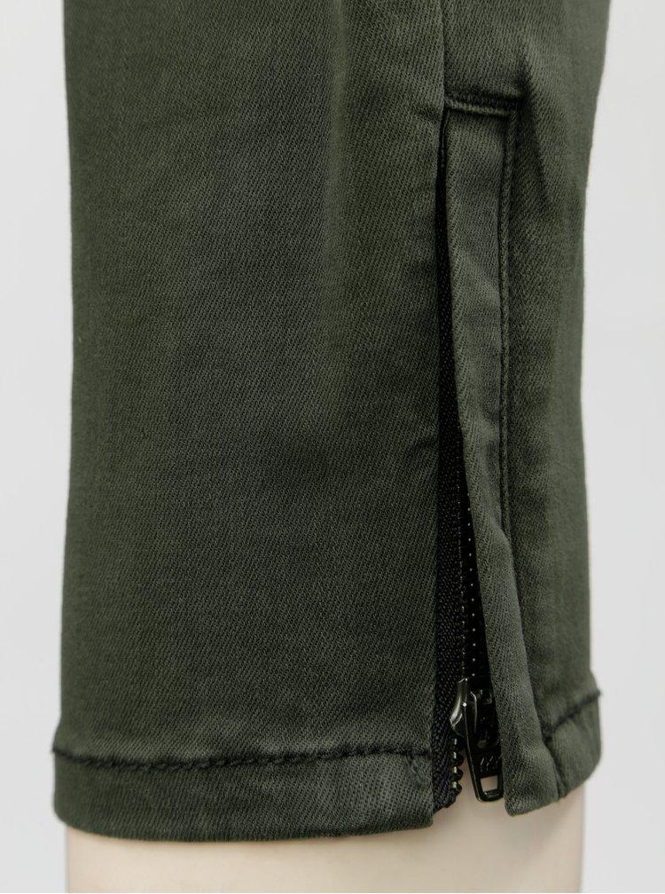 Khaki slim fit džíny VERO MODA