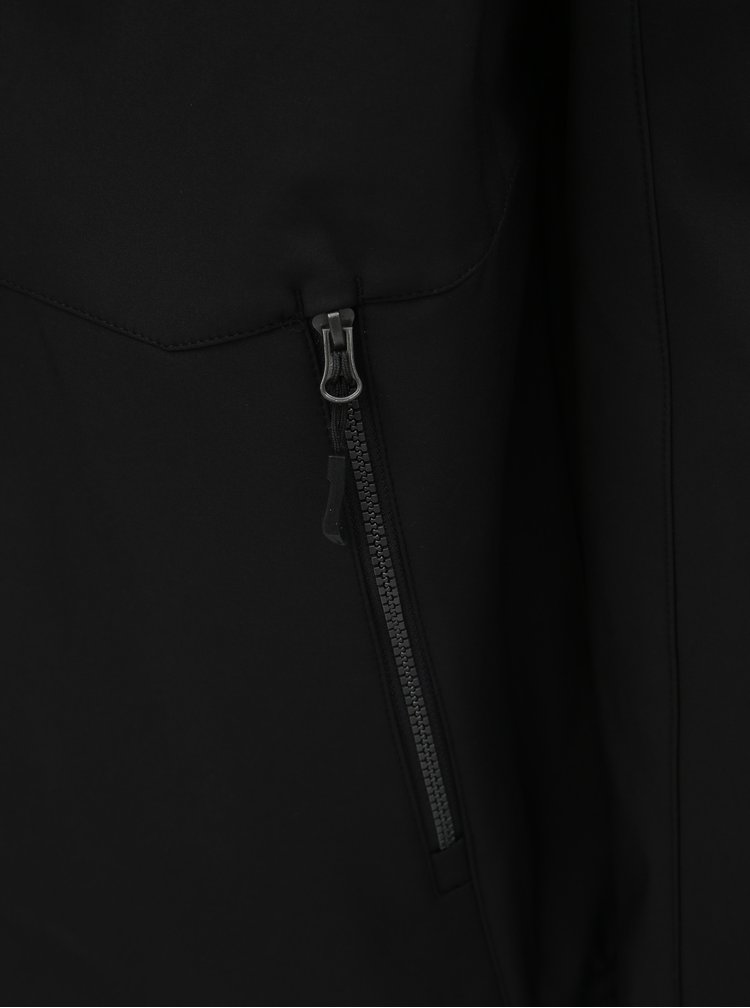 Černá pánská softshellová nepromokavá bunda s kapucí LOAP Lombard