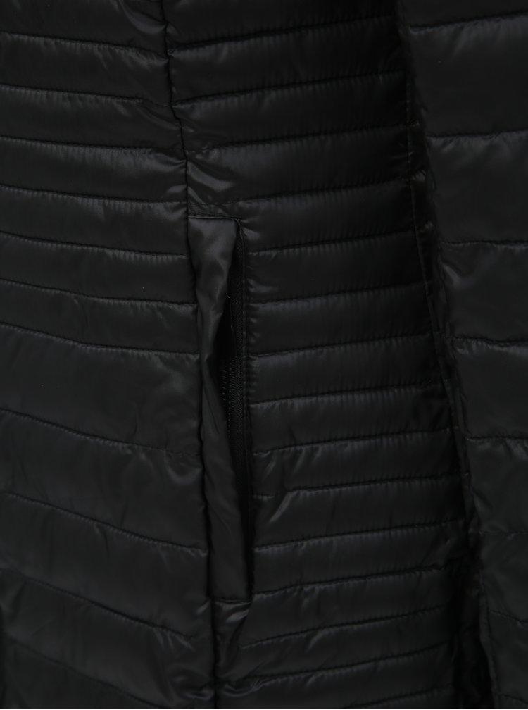 Pardesiu negru matlasat impermeabil de dama cu gluga detasabila LOAP Jomana
