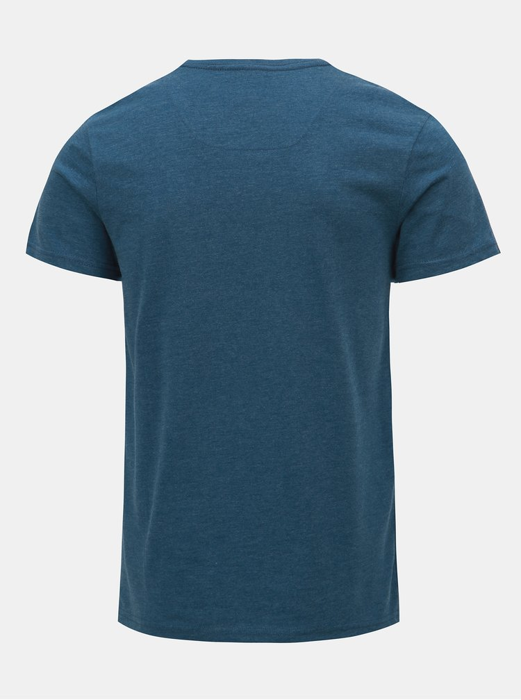 Tricou barbatesc albastru melanj LOAP Azro