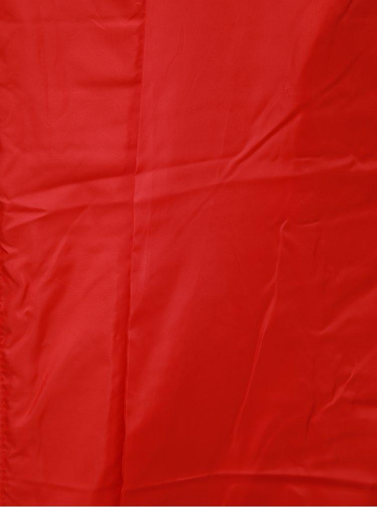 Červený dámsky prešívaný nepremokavý tenký kabát LOAP Japa