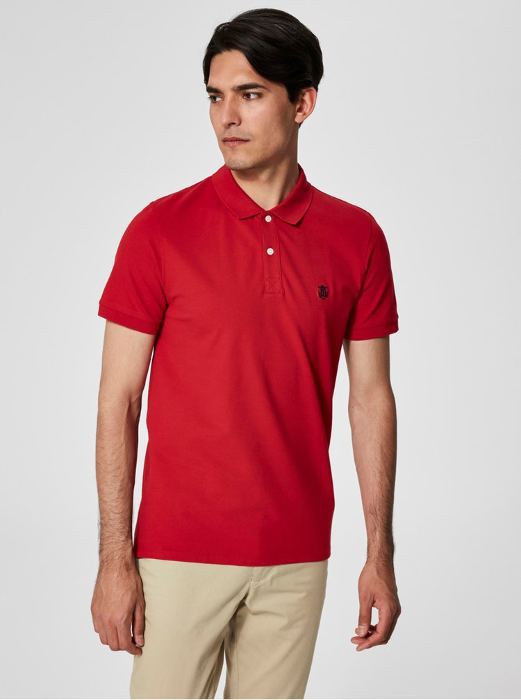 Tricou polo rosu  Selected Homme Haro