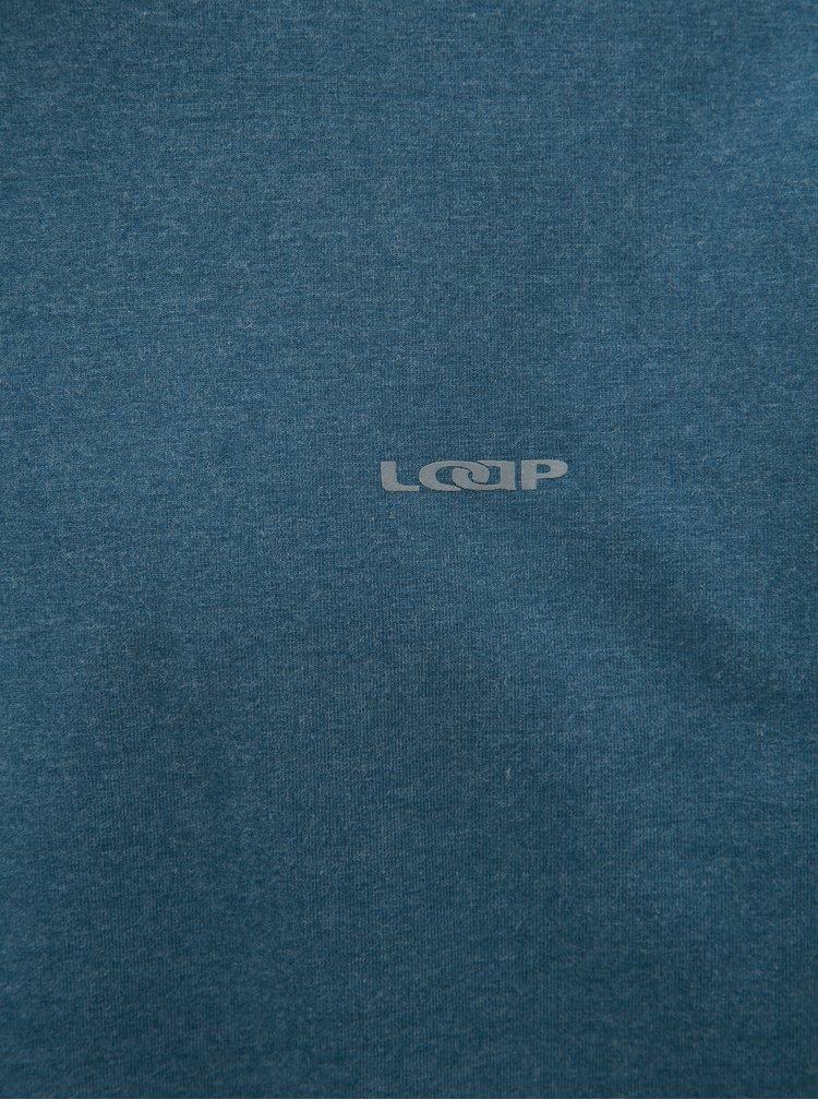 Tricou barbatesc albastru cu maneci lungi LOAP Babol
