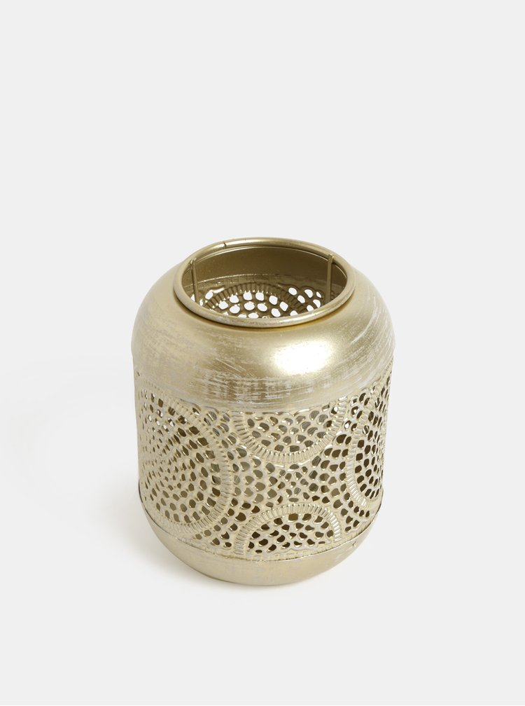 Felinar auriu cu motiv geometric Kaemingk