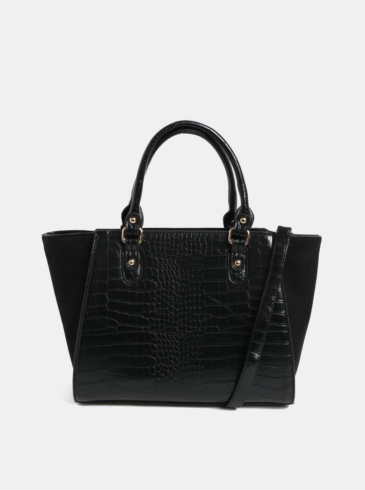 Čierna kabelka s hadím vzorom Dorothy Perkins