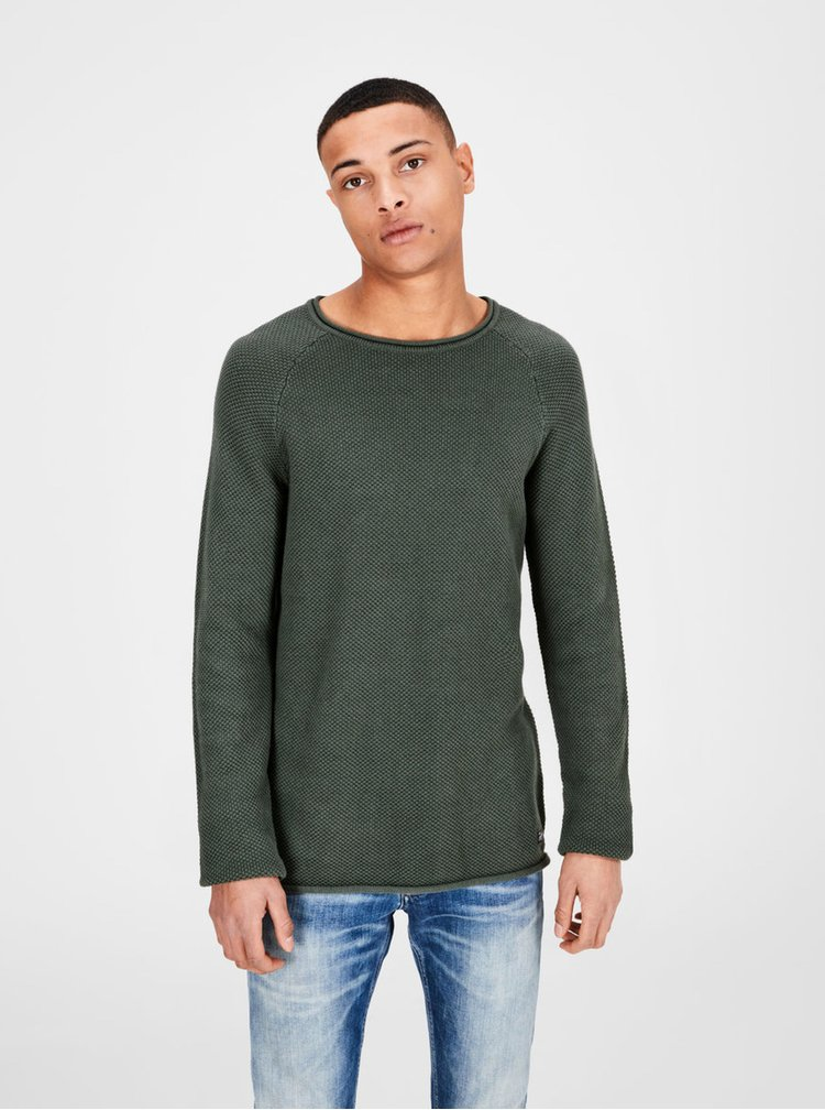 Khaki svetr Jack & Jones Phil