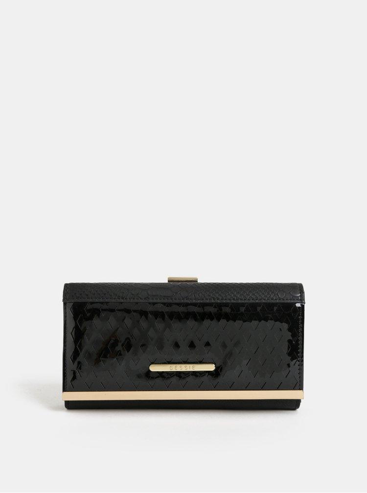 Portofel mare negru cu detalii aurii Bessie London