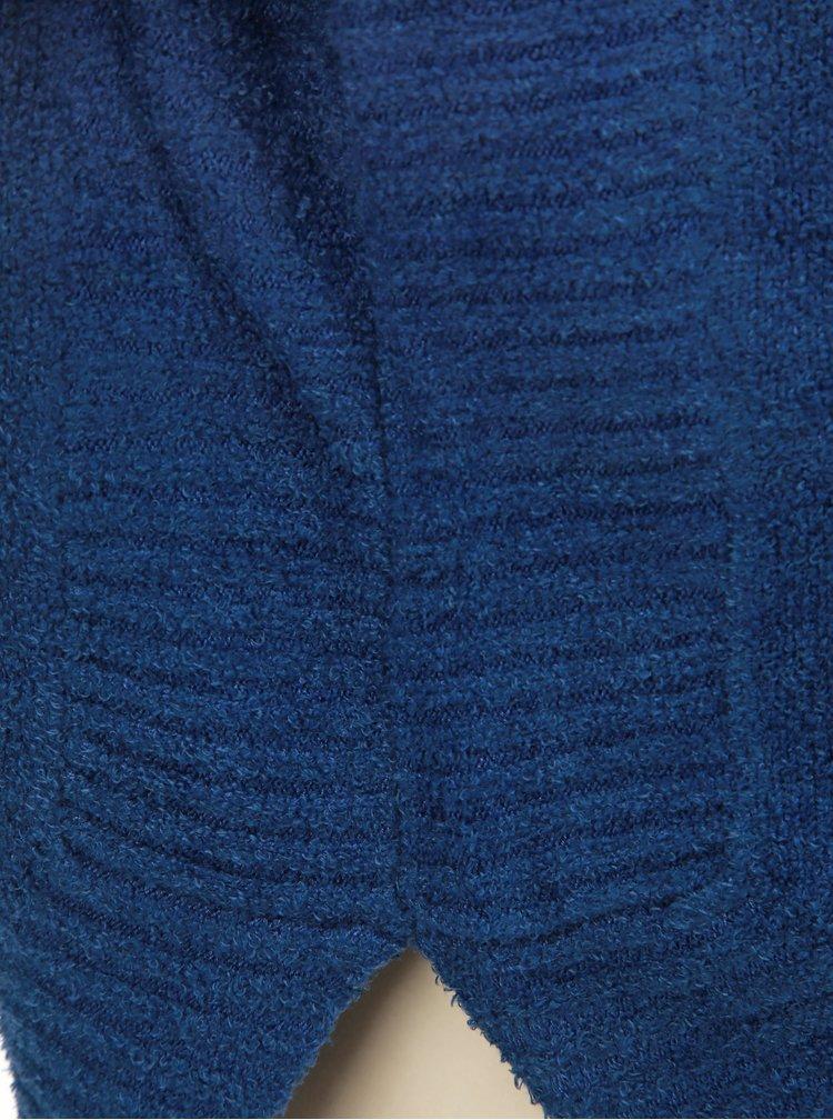 Modrý volný svetr s kulatým výstřihem touch me. Pocahontas Vibe